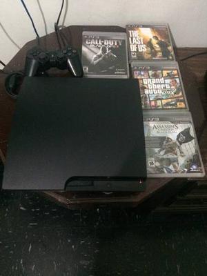 Playstation 3 Con Cuatro Juegos Y Un Control