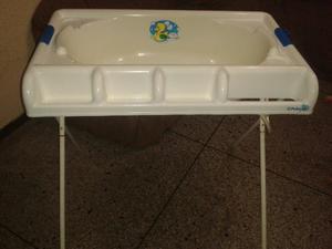 Bañera Para Bebes Con Pedestal. Poco Uso