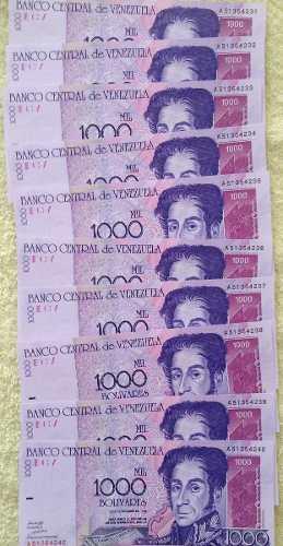 Billetes De  Serie De 10 Nuevos Sin Circular