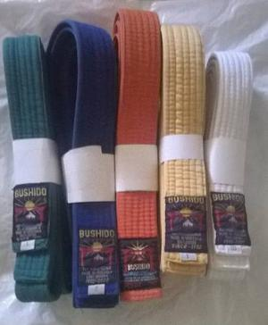 Cintas De Karate Y Taekwondo Marca Bushido Diferentes Tallas