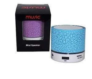 Corneta Mini Cilindro Entrada Usb Memoria Bluetooh Luz