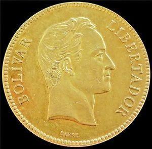 Moneda De Oro Simón Bolívar 22k 1.3 Gr.