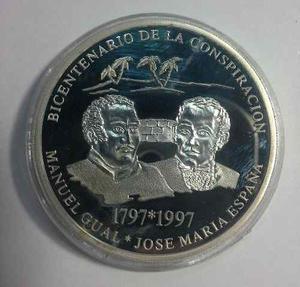 Moneda De Plata. Bicentenario Gual Y España. Ley Bs. 500