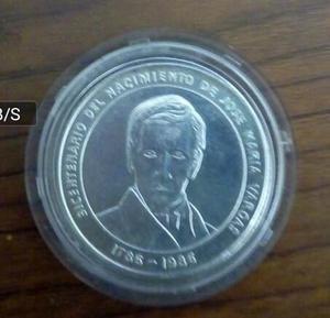Moneda De Plata De 100 Bs, Ley gr Jose M Vargas