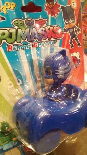 Muñecos Pj Mask Con Su Carrito Gecko Ululette Y Catboy