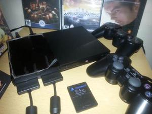 Playstation 2 + 2 Controles + Chip + Juegos + Memory Card