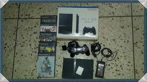 Playstation 2 Con 5 Juegos Y 1 Control.