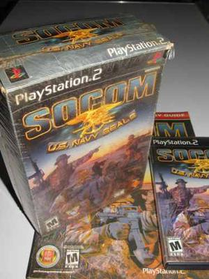 Socom Playstation 2 Original+ Mas Guia Prima En Ingles