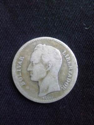 Un Bolivar De Plata De