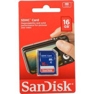 Tarjeta De Memoria Sandisk 16 Gb Sdhc Clase 4. Memoria Sd