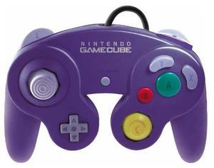 Control Morado Original Para Consolas Nintendo Gamecube