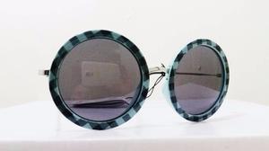 dccdfcaeb Lentes de sol redondos azul negro verde estilo | Posot Class