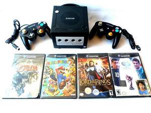 Nintendo Gamecube Black Edicion Juegos Controles Memoria