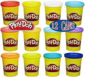 Play-doh 4-pack De Colores, 3-packs (12 Latas Total)