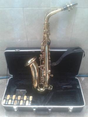 Saxofón Alto Dorado Marca Palmer