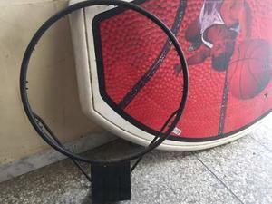 Tablero De Basket Con Aro De Metal Sin Malla