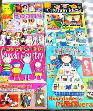 Vendo 17 Revistas De Manualidades En Foami Con Sus Patrones