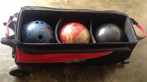 Bolso De Bowling +3 Bolas *oferta* Por No Usar. Sin Detalles