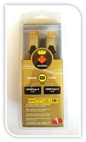 Cable Hdmi, Pickens Premium Chrome 2 Metros