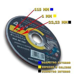 Disco De Corte 4 1/2 Preciso 115mm X 1mm X mm Cgw