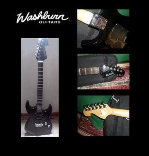Guitarra Electrica Washburn X Series Negra Derecha + Forro