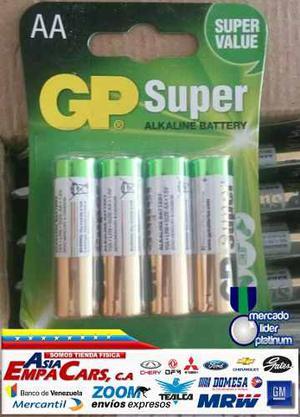 Pilas Baterias Gp Aa Super Alkalinas Blister De 4
