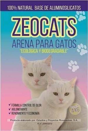 Arena Para Gatos Zeocats Lecho Sanitario 4kg