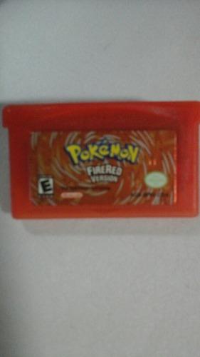 Juego De Game Boy Advance Pokemon Fire Red, Totalmente Origi