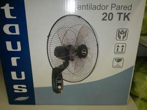 Moderno Ventilador Taurus De Pared 5 Aspas 20tk Transparente