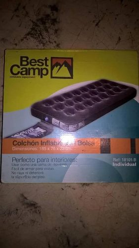 Colchón Inflable Individual Marca Best Camp (nuevo)