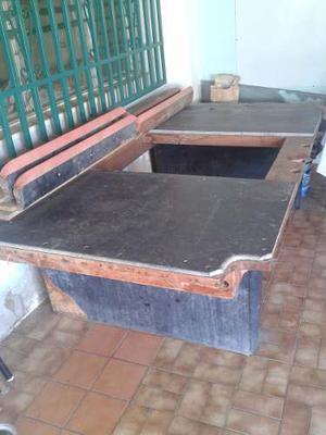 Mesa De Pool Usada Para Restaurar Solo Mesa