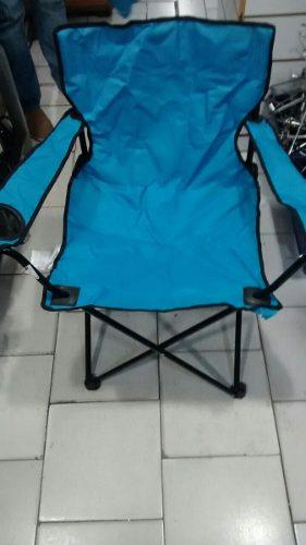 Silla Playera Camping Plegable Con Forro