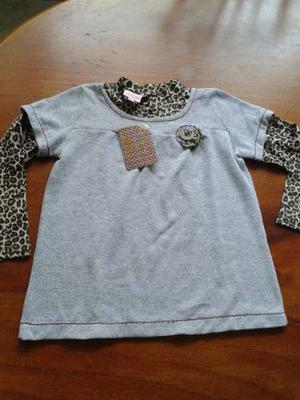 Camisa Para Niña Animal Print