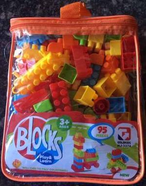 Lego 95 Piezas Bolso Grande Juguete Didactico Bebes Niños