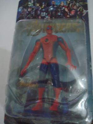 Spiderman Con Luz 15cm Hombre Araña