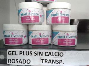 Gel Plus Para Uñas Nail System -rosado-transparente