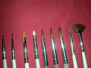 Kit O Set De Pinceles De Gel Acrilico Decorativos Y Pincelad