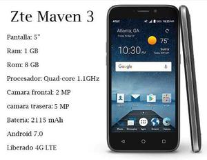 Telefono Zte Maven 3 1gb Ram 8gb Interno 4g Lte Liberado
