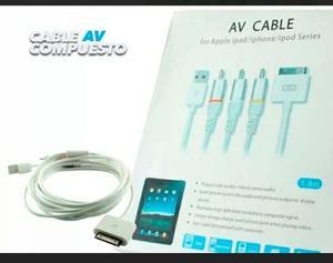 Cable Av Rca Audio Y Video Para Ipod Ipad Iphone Y2 3 4