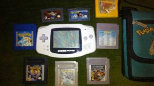 Gameboy Advance Color Blanco + 2 Juegos + 6 Juegos De Gba