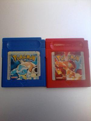 Juegos De Game Boy Color Pokemon Azul Y Rojo