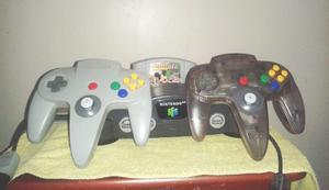 Consola De Nintendo 64 + 2 Controles + 2 Juegos