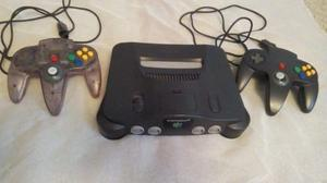 Consola Nintendo 64 N64 Con 2 Controles + Transfer Pack