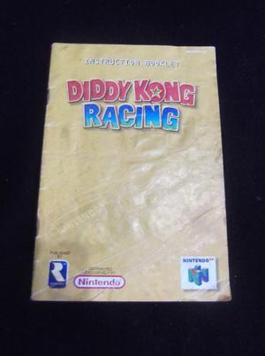 Manual De Juego De Nintendo 64 Diddy Kong Racing Usado