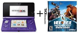 Nintendo 3ds + Juego La Era Del Hielo 3d + Memory Card 2gb