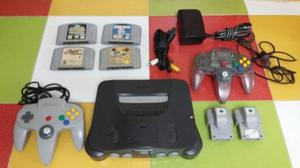 Nintendo 64 2 Controles 4 Juegos 2 Rumble Pack