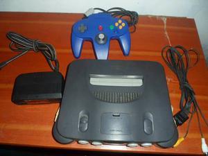 Nintendo 64 Con Un Control Y 3 Juegos