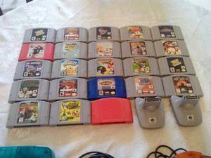 Nintendo 64 + Controles + Juegos + Accesorios
