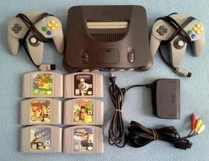 Nintendo 64 Original 2 Controles 6 Juegos Mario 64 Dk Y Mas