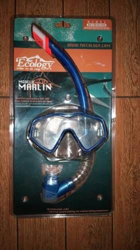 Careta Y Snorkel Ecology Kit D Buceo Marlin